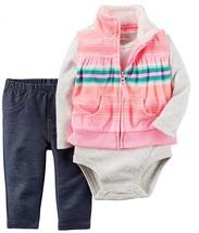 Carter's Baby Girls 3-Piece Micro Vest Set - Denim, 6 Months - $19.95