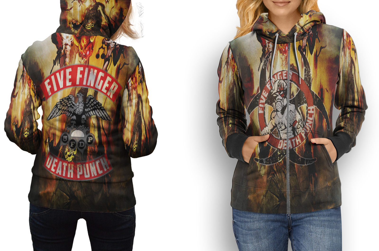Primary image for HOODIE WOMEN ZIPPER Five Finger Death Punch