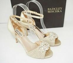 Badgley Mischka Women's Bridal Heels Pumps Peep Toe Ankle Strap Size US ... - $122.76