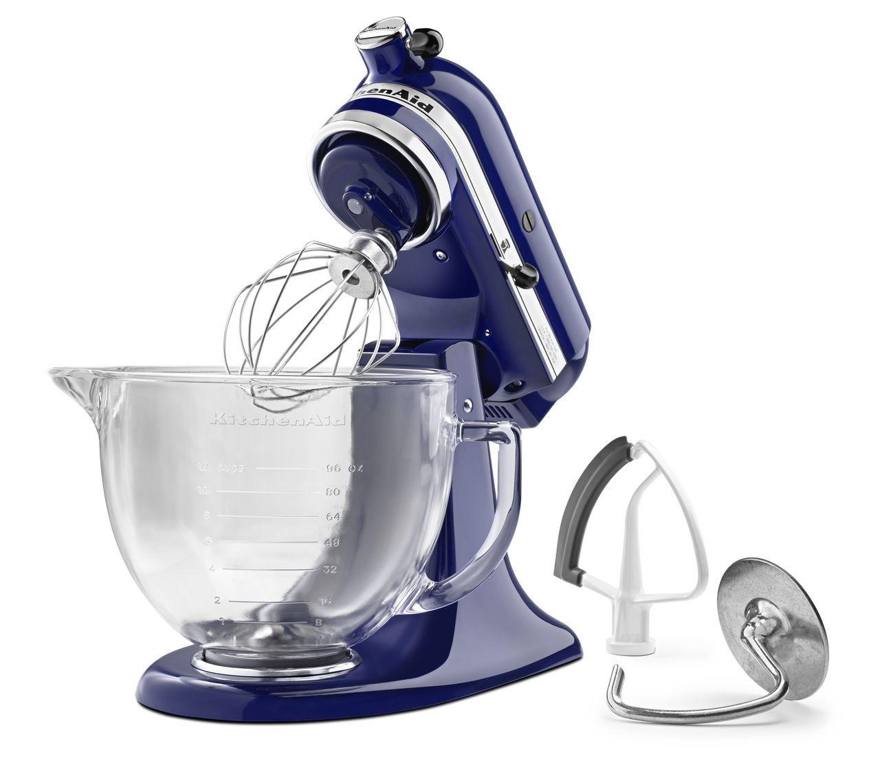 KitchenAid Artisan Series 5-Quart Tilt-Head Stand Mixer, Blue with Glass Bowl