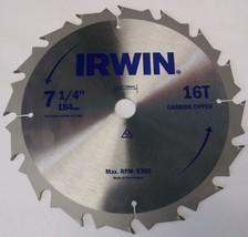 "Irwin 7-1/4"" x 16T Carbide Tipped Circular Saw Blade New Zealand - $2.97"