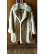 Vintage Genuine Diamonte by Dubrowsky and Joseph Fine Fur Coat Warm Wint... - $79.20