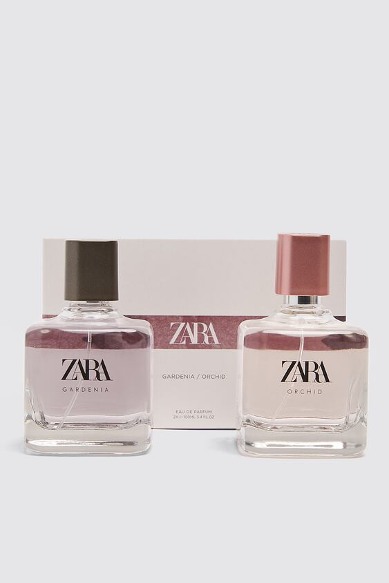 Primary image for Zara New Two Bottles GARDENIA100ML+ORCHID100ML EAU DE Toilette Woman Parfum