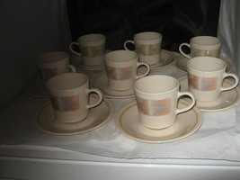 (8) Corelle Corning Mirage Southwest Cups & Saucers - $17.99
