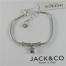 Silver Bracelet 925 Jack&co with Star Dog Butterfly Four-Leaf Clover or Cat image 7
