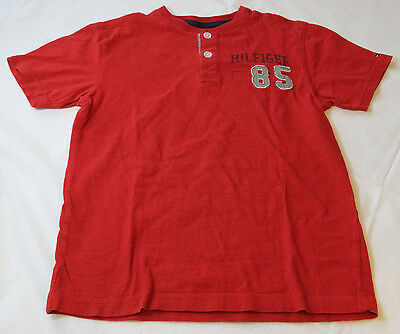 Boy's youth Tommy Hilfiger shortsleeve T shirt s 8/10 T880671 Red 403357 GUC