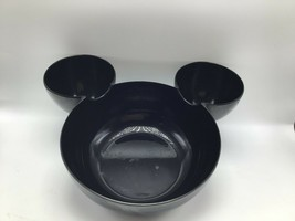 Zak! Designs Mickey Mouse Head Chip Dip Bowl Black Plastic Serving Ears ... - $19.34