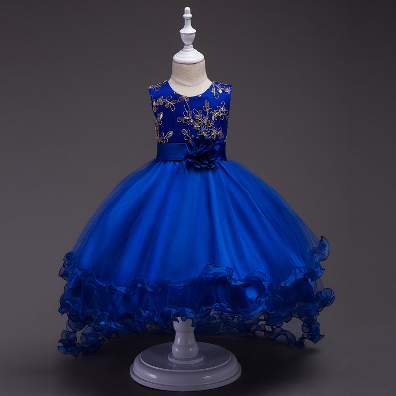 Primary image for  Royal Blue Flower Girls dress Evening Party Pageant Dress for Girls in 4 colors