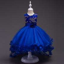 Royal Blue Flower Girls dress Evening Party Pageant Dress for Girls in ... - $59.99+