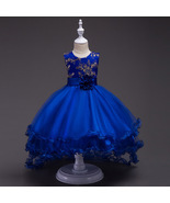 Royal Blue Flower Girls dress Evening Party Pageant Dress for Girls in ... - $79.27 CAD+