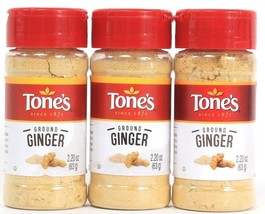 3 Tones Ground Ginger Quality Freshness Value 2.20 oz Best By 8-23-22 - $17.99