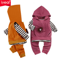 IYEAL Newest 2018 Newborn Kid Toddler Girl Boy Clothing Sets Hooded Vest... - $49.68
