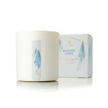 Thymes Washed Linen Poured Candle 8oz - $35.00
