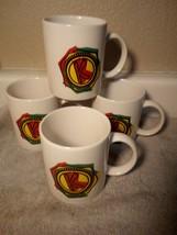 (4)  KAHLUA  COFFEE MUGS / CUPS--**K**  DO A KAHLUA --FREE SHIP--VGC - $28.97