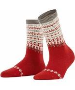 FALKE Womens Mixed Pattern Mid-Calf Socks Chili US Size 8-10.5 $28-NWT - $13.85