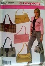 Simplicity 4646 Pattern Handbags in Five Variations - $11.87