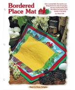 Personalize a Bordered Place Mat Table Quilt Scrap Quilting Pattern Leaflet - $2.99