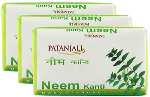 PATANJALI NEEM KANTI BODY CLEANSER - 150gm - Pack of 3