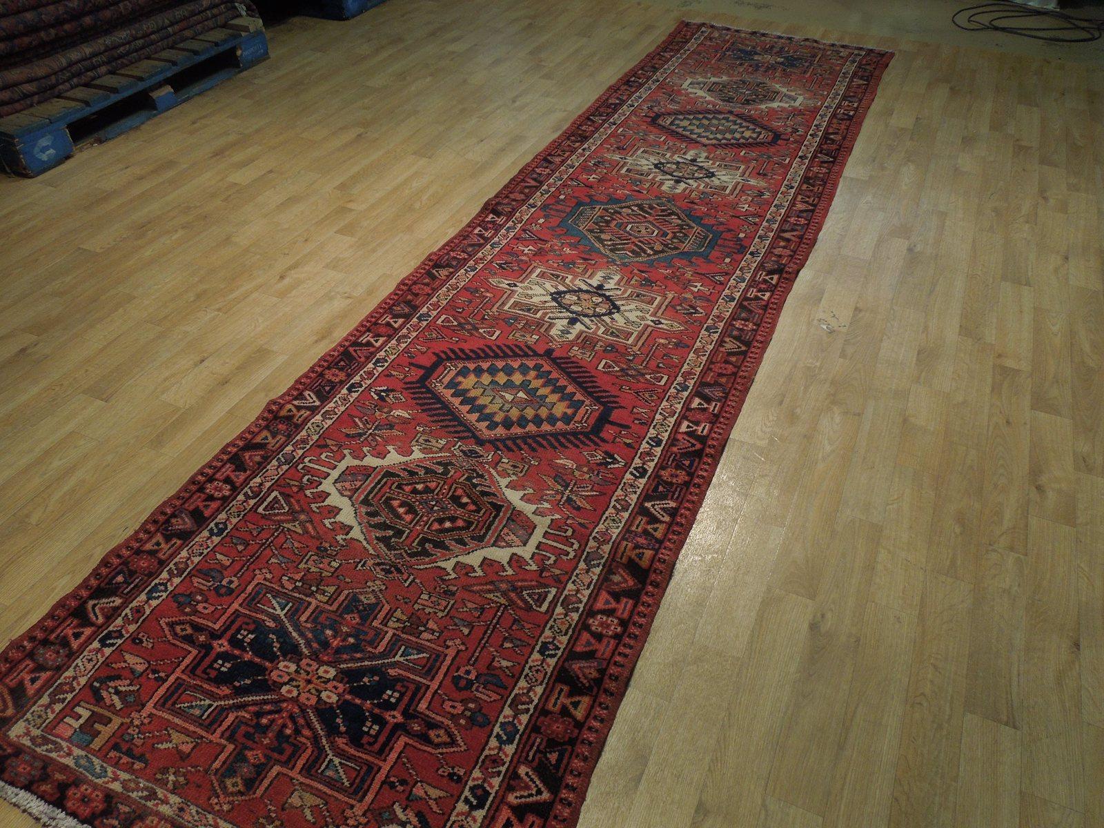 Red 3 x 13 All-Over Classic Tribal Design Runner Karaja Persian Handmade Rug image 5