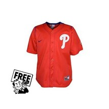 PHILADELPHIA PHILLIES Officially MLBNike Boys Jersey Size 6 LG $40.00 New - $19.79