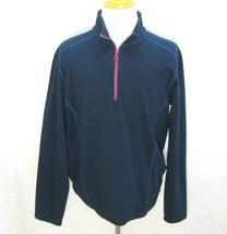 EDDIE BAUER Mens Blue Long Sleeve 1/2 Zip Fleece Pullover Sweater Jacket... - $12.95