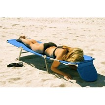 Blue Lounge Chair with Open and close face pillow and arm slots - $69.20