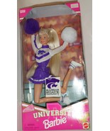 Mattel Barbie Doll Kansas State University Cheerleader 1996 purple wht u... - $47.77