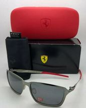 Polarisiert Oakley Sonnenbrille Scuderia Ferrari Tincan OO4082-09 Schwarz Chrom image 12