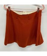 Vintage Burnt Orange Cloth Fall Mini Skirt Women's XS - $30.00