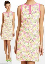 $238 Lilly Pulitzer Percy Multi Floral Sunbonnet Eyelet Lace Shift Dress - $175.50