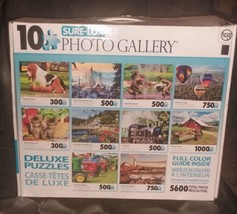 Photo 10 Gallery Brand New Deluxe  Puzzles 5600 pieces Sure-Lox  - $18.70