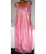 Pink Toga Style Lace Open Tie Look Side Long Nightgown 2X 3X Plus Size  - $22.75