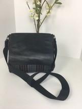 Coach Crossbody Sullivan Plaid  Wool Black Leather Small Messenger F7194... - $103.90