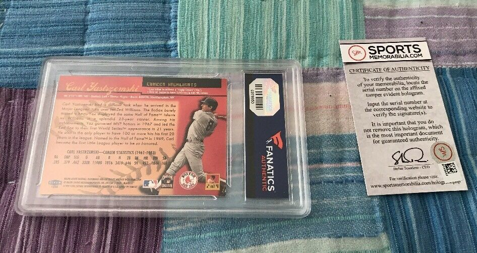 1999 Fleer Ultra A.S. Game #2 Carl Yastrzemski Autographed Baseball Card Red Sox