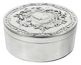 "Ganz 3.5"" ""Key to a Happy Marriage"" Box Silver Tone Zinc - $24.00"