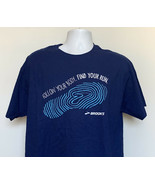 New Brooks Running Follow Your Body Find Your Run T Shirt Mens Large Blue - $21.73