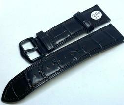 Original Fossil Genuine Dark Brown Leather Built-in Pins Watch Strap Ban... - $21.84