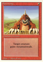 Magic: The Gathering 3rd Edition - Burrowing - $0.25