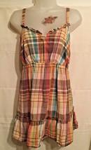 Old Navy Women's Sz M Sun Shirt Tank Top Sleeveless Multi Color Plaid - $10.69
