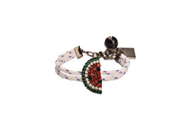 Lisa C Bijoux Womens Watermelon Black Bracelet Food & Drink White Size OS - $68.50