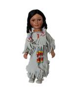 """Vintage J. Misa 15"""" Porcelain Native American Indian Doll Limited Edition - $24.99"""