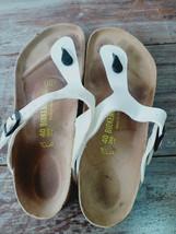 Used BIRKENSTOCK Gizeh Thong Women Sandal Shoes Sz 40 L9 M7 Summer White - $29.65