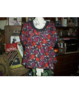 ANTHROPOLOGIE PLENTY BY TRACY REESE Sassy Floral Silk+Wool Blouse Size S - $15.84