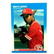 Barry Larkin 1987 Fleer Rookie Card #204 MLB HOF Cincinnati Reds - $4.90