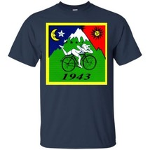 Albert Hofmann LSD Trip Funny  T Shirt Top Bicycle Day 1943 Black Navy Gildan Co - $20.74+