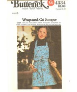 Butterick 4334 EASY Children's & Girls' Wrap-and-Go Jumper Size 6 UNCUT FF - $7.47