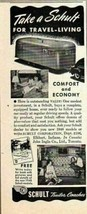1948 Print Ad Schult Travel Trailers Comfort & Economy Elkhart,IN - $9.57