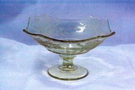"Paden City 1930 Ardith Yellow 6 3/8"" Square Low Footed Compote - $34.64"