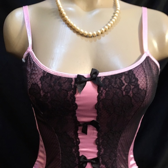 1fcd99f8ca1 M 58a55e3bc284564418063681. M 58a55e3bc284564418063681. Previous. Victoria s  Secret Pink   Black Sexy Little Thing Bustier ...