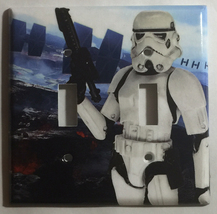 Star Wars White Soldier Light Switch Power Outlet Duplex Cover Plate Home decor image 2